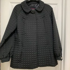 Betsy Johnson Quilted Circle Puffer Coat, sz L